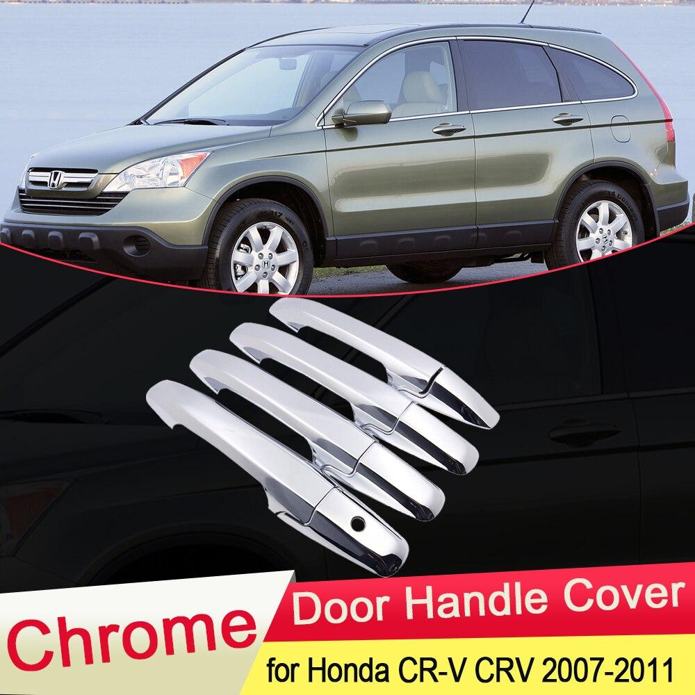 Роскошный хромированный чехол для ручки двери для Honda, CRV, 2007, 2008, 2009, 2010, 2011, Набор стикеров, аксессуары для стайлинга автомобиля