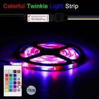 Tira de luces LED de 5V con USB, cinta de luz LED RGB impermeable, Flexible, cinta de luz LED, iluminación de fondo para TV, lámpara de decoración, 2835