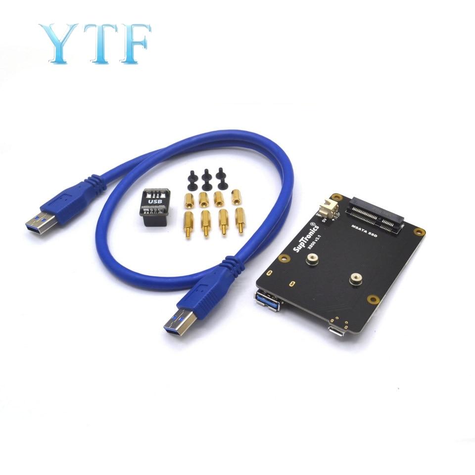 Raspberry Pi 3B+ X850 V3.1 MSATA SSD Hard Drive Expansion Board Supports 1TB USB 3.0