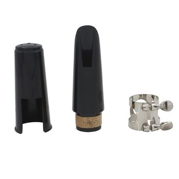Clarinet Mouthpiece Kit with Ligature,one Reed and Plastic Cap~black - discount item  20% OFF Musical Instruments