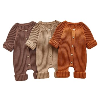 Knitted Baby Romper Spring Newborn Baby Clothes Infant Jumpsuit Outerwear Sweater Toddler Baby Boys Girls Romper Onesie christmas baby clothes autumn winter knitted baby deer romper newborn romper infant jumpsuit toddler girl romper