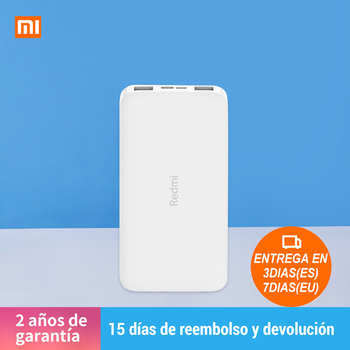 (Plaza) Newest Xiaomi Redmi Power Bank 10000mAh QC 3.0 USB Type C Powerbank Standard Charging Portable Charger