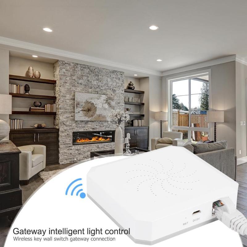 Gateway Smart Light Control ZigBee Wireless Button Key Wall Switch Add Zigbee Sub-devices Smart Home Device Support Add APP