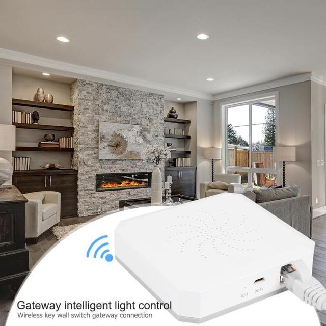 שער חכם אור בקרת ZigBee אלחוטי כפתור מפתח קיר מתג להוסיף Zigbee תת מכשירים חכם בית מכשיר תמיכה להוסיף אפליקציה