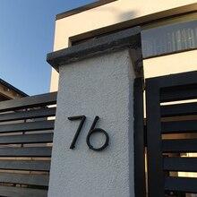 Plates Numbers Outdoor Sign Modern House Digital-Door Black Home Address 3D 12cm Big