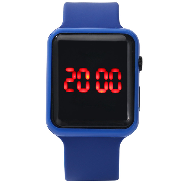 2020 homens mulheres led relógios pulseira de silicone relógio eletrônico único relógio quadrado esporte correndo relógio de pulso presentes relogio masculino 4