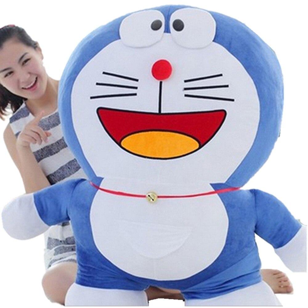 US $89 99 Fancytrader 39 Pop Anime Jepang Besar Doraemon Plush Toy Raksasa Biru Boneka Doraemon Kartun Kucing Boneka Bagus Hadiah Ulang Tahun 100