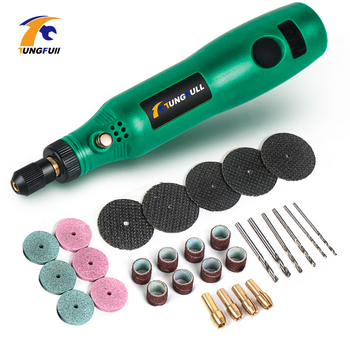 TUNGFULL Drill Wireless Mini Electric Nail Drill Cordless Rotary Tool For Jewelry Metal Charging Adjustable Speed Engraving Pen charging charging speed mini electric grinder nail drill polished jade nuclear engraving machine hand held wood micro small