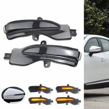 цена на Black LED Light Dynamic Turn Signal Side Mirror Blinker Indicator For Mazda CX-3 CX3 2016-19 CX-4 CX-5 CX5 2016 2016.5 Facelift