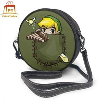 Zelda Shoulder Bag Pocket Link Leather Shopper Mini Women Bags Print Multi Function Crossbody High quality Round Purse