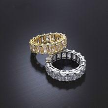 Lüks sonsuzluk söz yüzüğü 925 ayar gümüş prenses kesim AAAA cz parti düğün Band yüzük kadınlar için gelin moda takı
