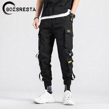 Calças de carga preto dos homens hip hop streetwear jogger harém calças casuais harajuku moletom marca 2021 verão novo calças masculinas