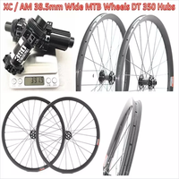 Factory direct sale Mountain bike clincher wheelset 27.5 inch carbon mtb wheels 650B hookless type DH AM Wheelset