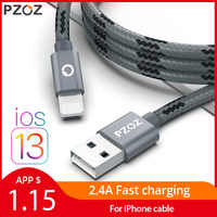 PZOZ usb cable for iphone cable 11 pro max Xs Xr X 8 7 6 plus 6s 5s plus ipad air mini 4 fast charging cables For iphone charger