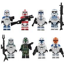 Brinquedo blocos de construção série filme tempestade clone soldado comandante corps guardas dar crianças presente aniversário brinquedos