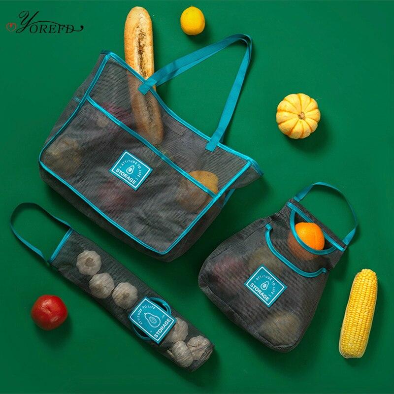 OYOREFD Reusable Breathable Produce Bags Kitchen Onion Potato Vegetable Mesh Bag Eco Fruit Bag Kitchen Hanging Bag Organizer