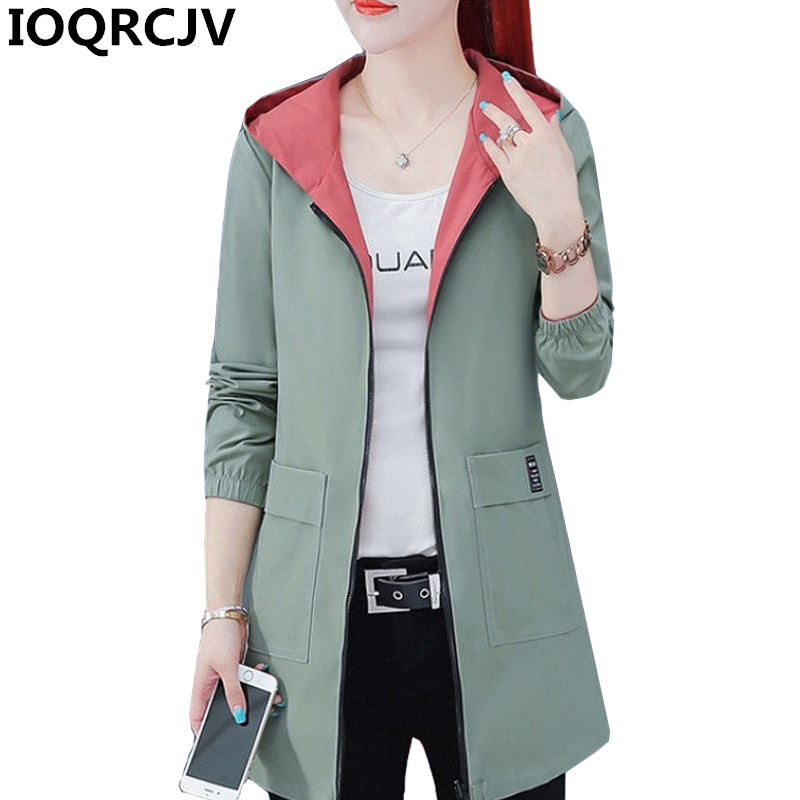 2020 New Spring Autumn Women Jacket Streetwear Hooded Coat Zippers Jackets Windbreakers Female Causal Outerwear Plus Size 4XL