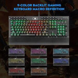 Image 5 - Redragon K550 Aluminum USB Mechanical Gaming Keyboard Rgb Red Purple Switch Diy Ergonomic Key Backlit Anti Ghosting PC Pro Gamer