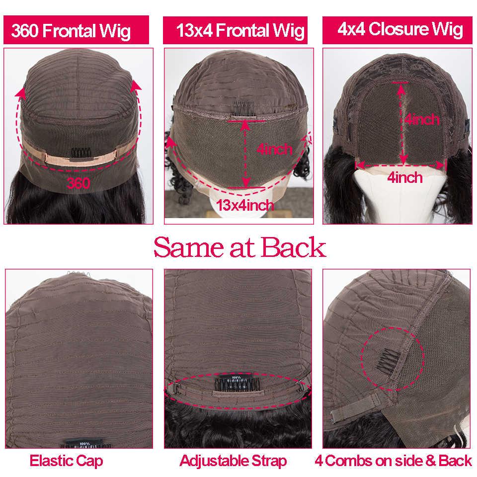 Pelucas de cabello humano liso de hueso para mujer, pelucas frontales de encaje 360, cabello humano brasileño prearrancado