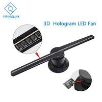 Advertising 3D Hologram LED Fan 42cm 3D logo light decoration 3d light projector naked eye 3d LED display with 8G SD card