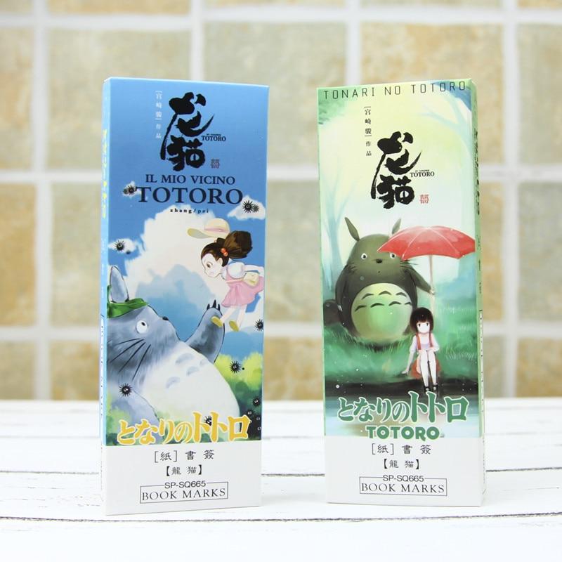 32 pcs/set Cartoon Totoro bookmark Anime paper page holder Memo card Stationery office School supplies separador de libros F392|separador de libros|bookmark animepage holder - AliExpress