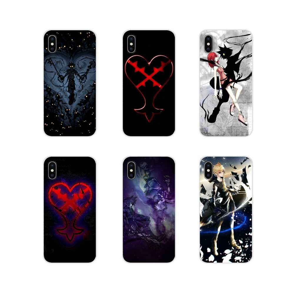 Para o iPhone Da Apple X XR XS 11Pro MAX 4S 5S 5C SE 6S 7 8 Plus ipod touch 5 kingdom Hearts Heartless 6 Casca Mole Transparente Cobre