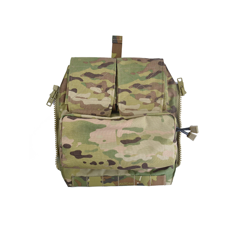 Delustered Crye CP Pouch Zip-On Panel for JPC CPC AVS Military Molle Zipper Pack Tactical Pouch Bag 500D Cordura TW-P042