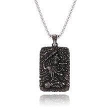 Ретро Будда Кулон буддийское Ожерелье Религиозная нержавеющая