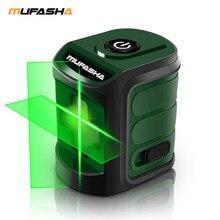MUFASHA Mini 2 Linee di Livello del Laser Rosso del Fascio o Fascio Verde di Auto-Livellamento Livello del Laser in Scatola