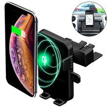 רכב אוויר Vent אלחוטי מטען טלפון מחזיק עבור Samsung S10 הערה 10 9 בתוספת CD חריץ הר מהיר טעינה עבור iPhone 11 פרו XS מקסימום