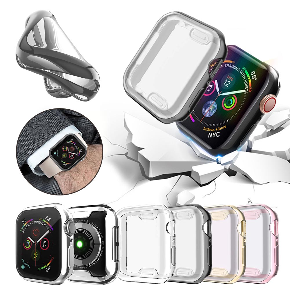 Slim Watch Cover For Apple Watch Case 5 4 3 2 1 42MM 38MM Soft Clear TPU Screen Protector For IWatch 4 3 44MM 40MM
