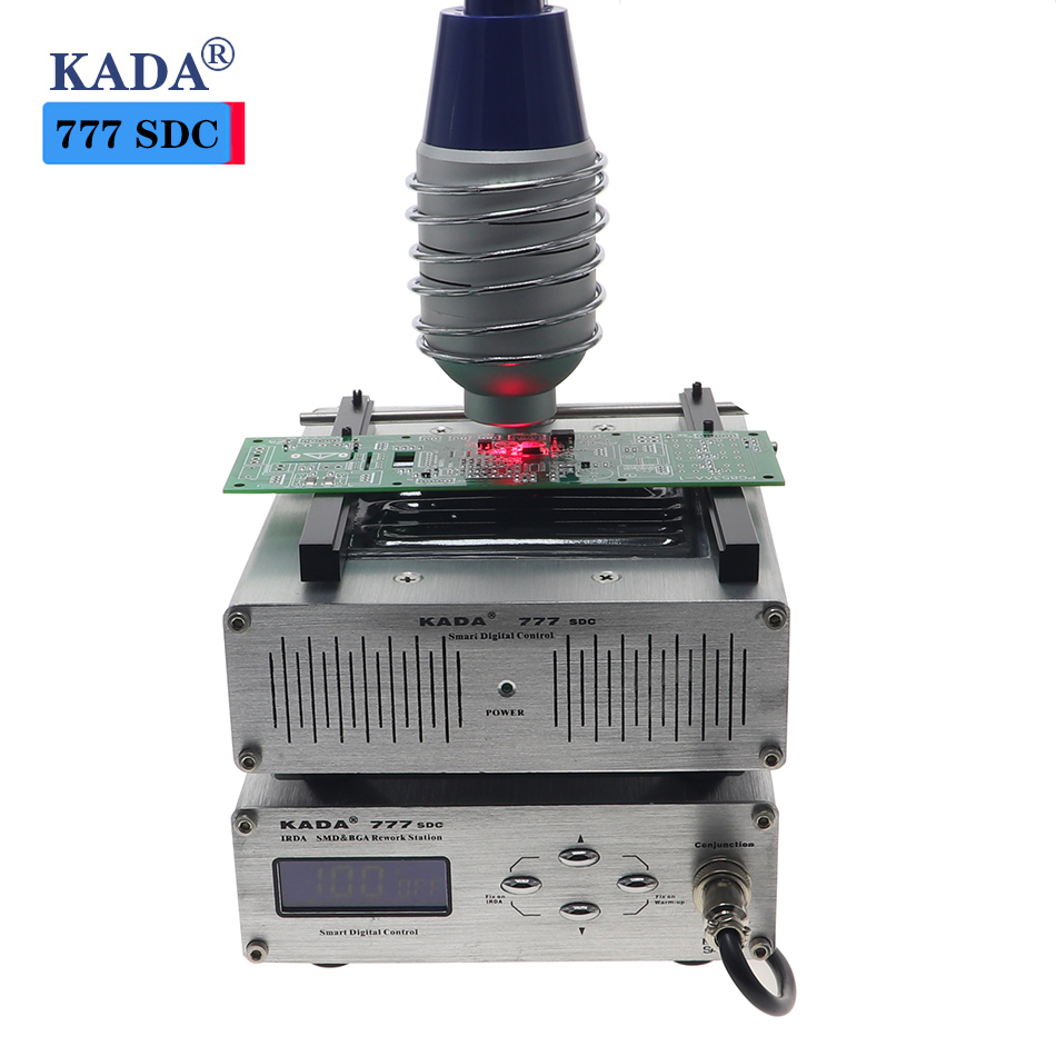 KADA 777 IRDA SMD BGA T862 infrared rework station 853 preheat station 2 in 1 infrared soldering station