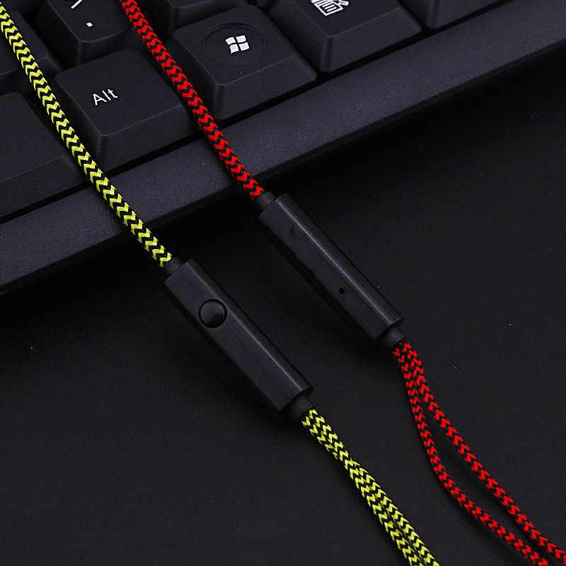 1pc 3.5mm super bas przewodowe słuchawki Crack sport Stereo słuchawki douszne do Samsung Xiaomi Huawei komputer