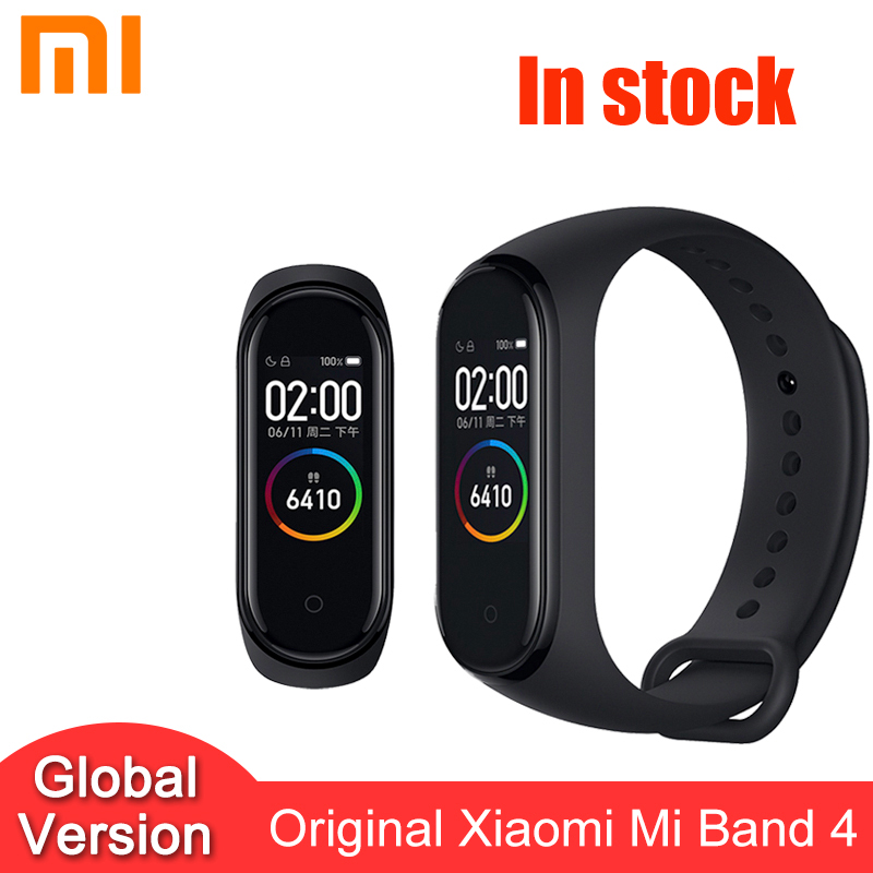 Xiao mi mi Band 4 <font><b>Smart</b></font> Armband 0,96 ''AMOLED Farbe Touch Screen Herz Rate <font><b>Fitness</b></font> 5ATM Wasserdicht Armband mi band 4 NFC image