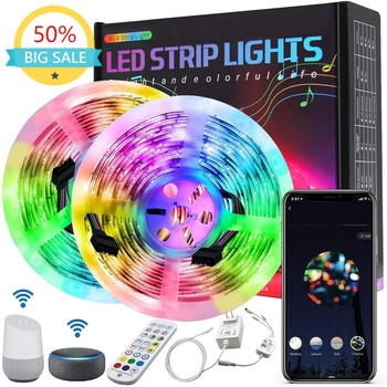 Tuya WiFi Smart Music LED Stripe RGB SMD5050 Color Tape LED Lights 5M 10M 15M 20M Work with Alexa Google Assistant Voice Control image