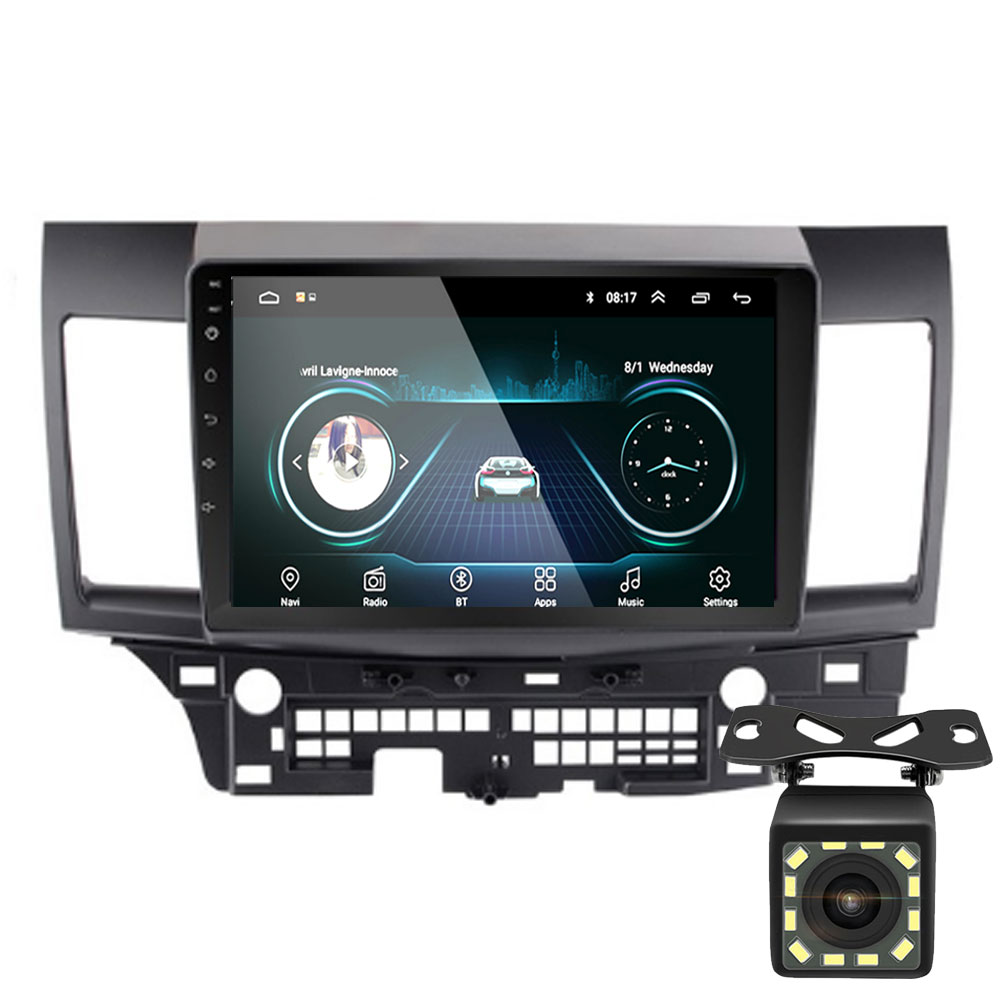 10 2din Android 8.1 GO Car DVD Player for Mitsubishi Lancer 2008 2009 2010-2016 Car Radio GPS Navigation WIFI Player image