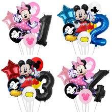 7 шт./лот Минни воздушные шары Микки Маус вечерние украшения для дня рождения Детские вечерние воздушные шары Микки Маус
