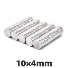 AGMA 10pcs 10 x 4mm Neodymium Magnets M35 10mm × 4mm Super Strong Round Powerful Permanent Rare Earth Magnet Craft Disc 10*4mm 18 10row 4mm orange round coral necklace magnet clasp