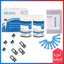 Safe Accu 50 100 200pcs blood glucose test strips Suitable for Safe Accu with Lancets Blood