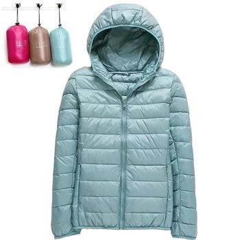 Parka d'hiver à capuche pour femme ultraléger, doudoune en duvet de canard blanc grande taille 4XL, manteau chaud imperméable pour femme 1