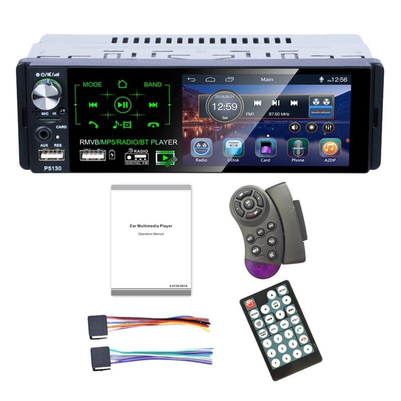 4.1 pouces presse écran voiture Mp5 lecteur Subwoofer Support Micophone et caméra voiture récepteur Bluetooth Rmvb/Radio/Bt lecteur Am Fm