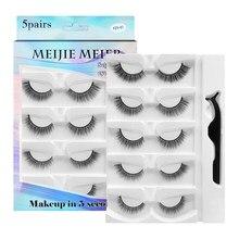 Shozy 1/ 3/ 5 pairs self-adhesive eyelashes natural long reusable false eyelashes without glue eyelashes extension for makeup