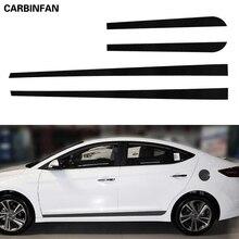 Автомобильный Стайлинг наклейка из углеродного волокна автомобильный боковой Стикер на автомобильную юбку автомобильные аксессуары для hyundai Elantra Avante