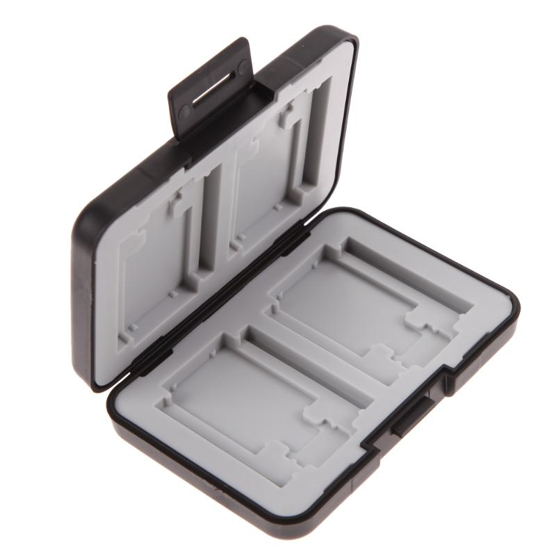 12 In 1 Memory Card Case Protector Box 4 Slots For SD/ SDHC/ SDXC + 4 Slots For Micro SD + 4 Slots For CF Cards Holder Case