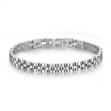 Runda Men's R O L E X Stainless Steel Chain Bracelet for Fashion Silver Color Jewellery