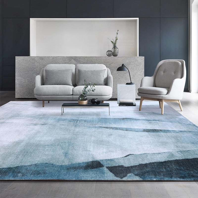 Luxury Nordic Carpet Living Room Villa Family Bedroom Floor Pad Office Decorative Floor Pad, Sofa Coffee Table Pad