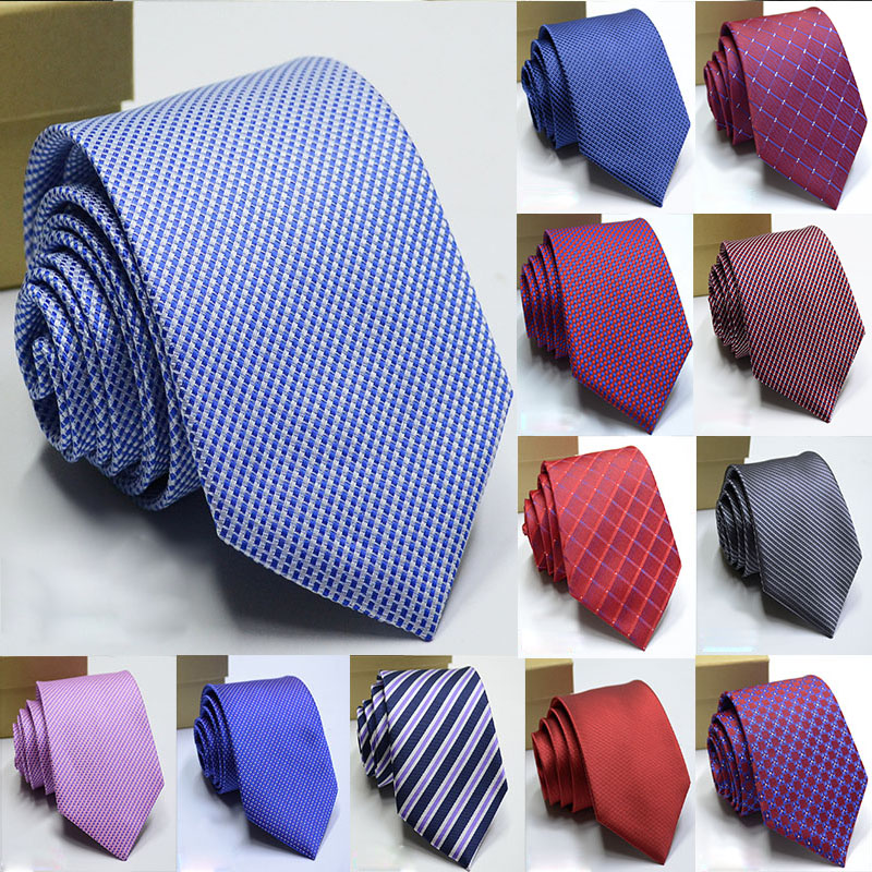 100% Silk Mens Ties New Design Neck Ties 8cm Dot Ties For Men Formal Business Wedding Party Gravatas Men Accessories Necktie