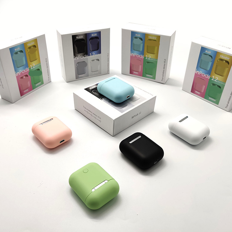 Macaron Candy Color Wireless Bluetooth Earphone Frosted Texture Touch Control Sport Earbuds HIFI Smart True Stereo Inpods 12
