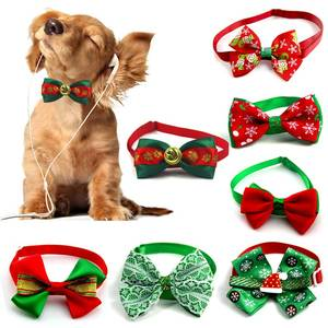 Bow-Tie Necklace Dog-Grooming-Accessories Puppy Dog-Collar Cats Holiday Christmas Adjustable