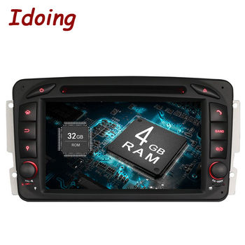 Idoing Android9.0/4G RAM/32G ROM/8Core/2Din For Mercedes/Benz/W209/203 Car DVD Player Multimedia Bluetooth WiFi 3G TV Fast Boot